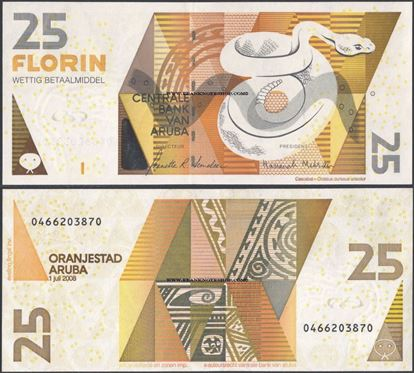 Picture of Aruba,P17b,B117b,25 Florin,2008