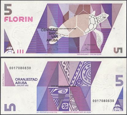 Picture of Aruba,P6,B106,5 Florin,1990