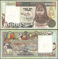 Picture of Colombia,P437A,10 000 Pesos,1993