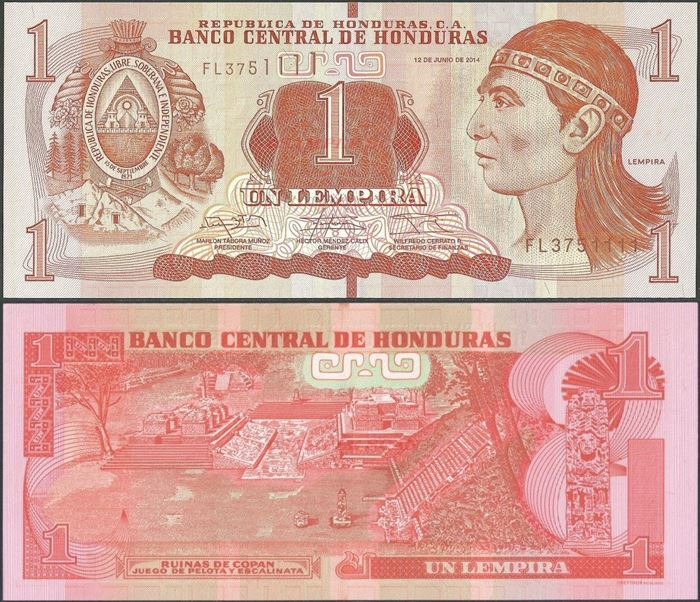 Picture of Honduras,P96b,1 Lempira,2014