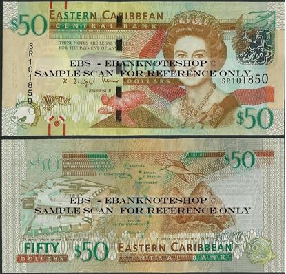 Picture of East Caribbean States,P54b,B238b,50 Dollars,2015