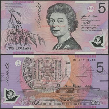 Picture of Australia,P57,B225h,5 Dollars,2012/2013