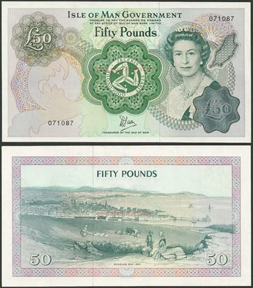 Picture of Isle of Man,P39,B113,50 Pounds,1983