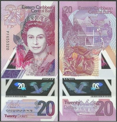Picture of East Caribbean States,PNL,B242,20 Dollars,2019