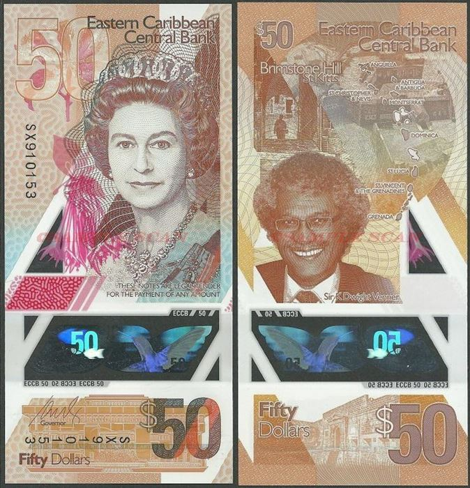 Picture of East Caribbean States,PNL,B243,50 Dollars,2019