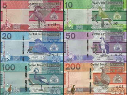 Picture of Gambia,B235-B240,5-200 Dalasi,2019,6 NOTE SET