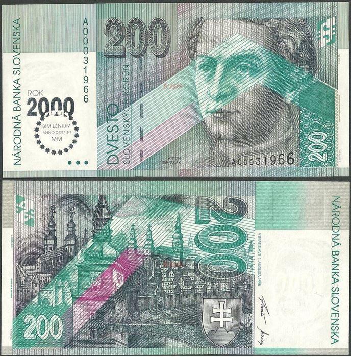 Picture of Slovakia,P37,B417,200 Koruna,2000 Comm