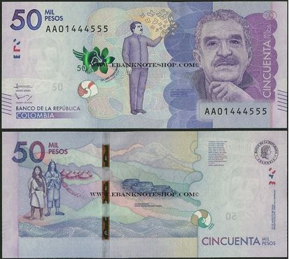 Picture of Colombia,P462a,50 000 Pesos,2015,AA