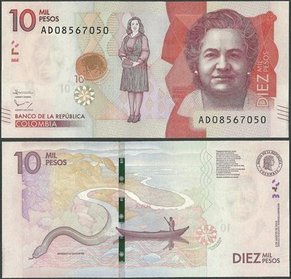 Picture of Colombia,P460b,10 000 Pesos,2016,AD