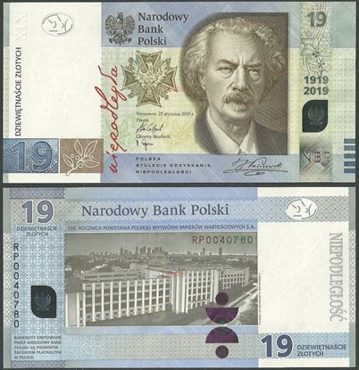 Picture of Poland,PNew,BNP823,19 Zloty,2019,Comm