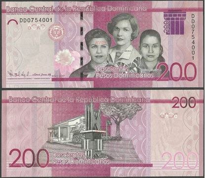 Picture of Dominican Republic,PNew,B729,200 Pesos Dominicanos,2017