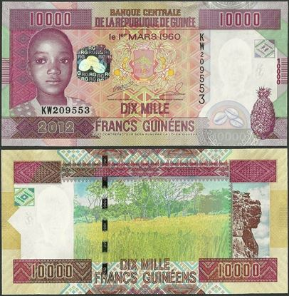 Picture of Guinea,P46,B336,10000 Francs,2012