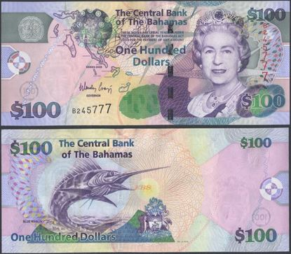 Picture of Bahamas,P76,B343,100 Dollars,2009