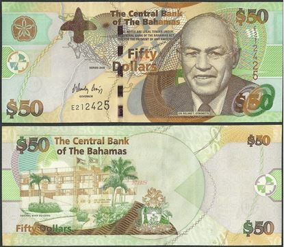 Picture of Bahamas,P75,B342,50 Dollars,2006