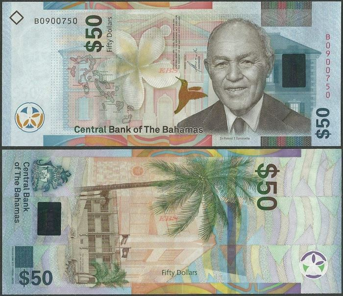 Picture of Bahamas,B354,50 Dollars,2019