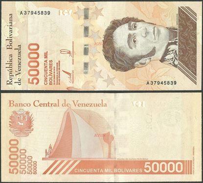 Picture of Venezuela,B381a,50 000 Bolivares,2019