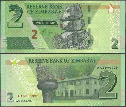 Picture of Zimbabwe,B192,2 Dollars,2019,AA