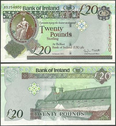 Picture of Northern Ireland,P88,B134a,20 Pounds,2013,Bank of Ireland