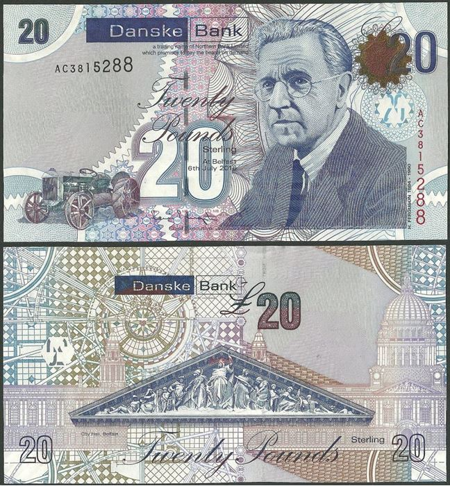 Picture of Northern Ireland,P213,B502b,20 Pounds,2016,Danske