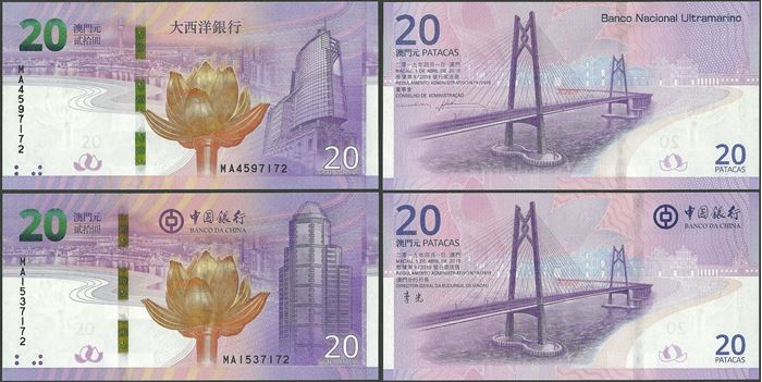Picture of Macau,SET - 20 Patacas,2019 20th Annv of Return to China Comm