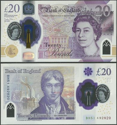 Picture of England,B205,20 Pounds,2019,Polymer,CJ prefix