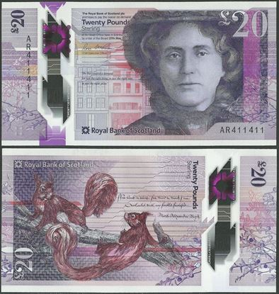 Picture of Scotland,20 Pounds,2019,RBS,Polymer,Ross McEwan