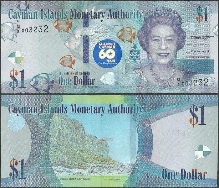 Picture of Cayman Islands,B224,1 Dollar,2018,Comm