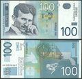 Picture of Serbia,P41,B401a,100 Dinara,2003,Comm