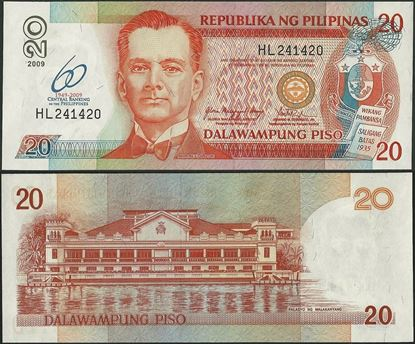 Picture of Philippines,P200a,B1056,20 Piso,2009,Comm,60 Annv