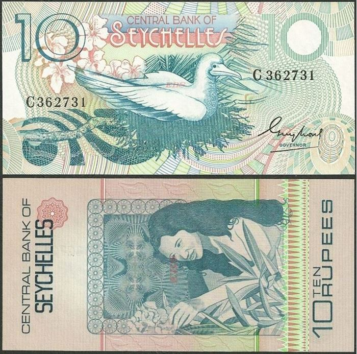 Picture of Seychelles,P28,B401a,10 Rupees,1983