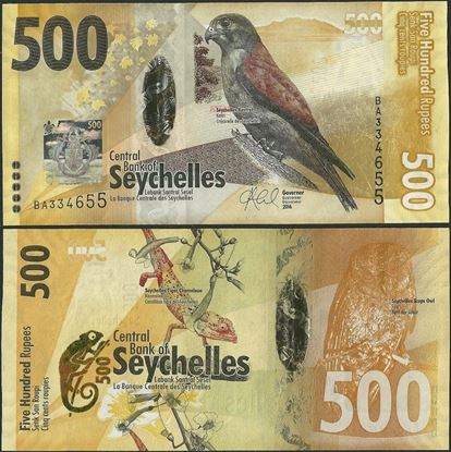 Picture of Seychelles,P51,B422a,500 Rupees,2016