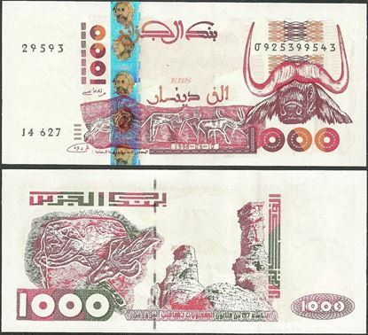 Picture of Algeria,P142,B406c,1000 Dinars,1998