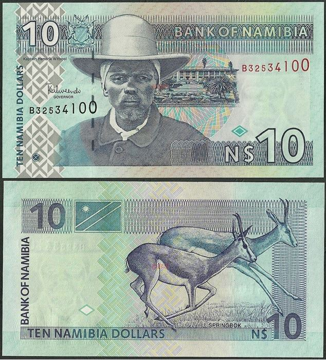 Picture of Namibia,P04,B204b,10 Dollars,2009