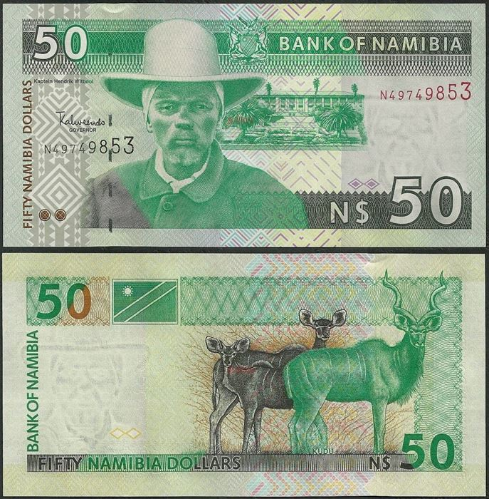 Picture of Namibia,P08,B206,50 Dollars,2006