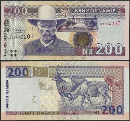 Picture of Namibia,P10,B208c,200 Dollars,2001