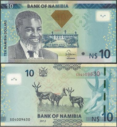 Picture of Namibia,P11a,B209,10 Dollars,2012