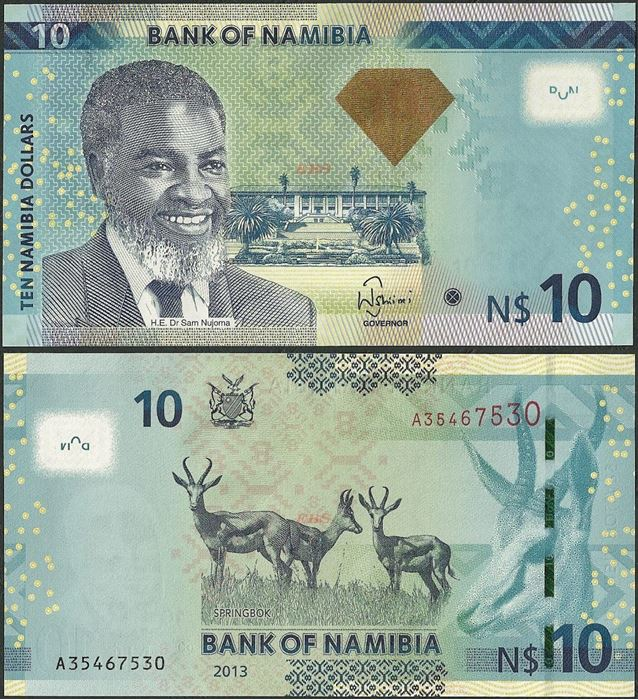 Picture of Namibia,P11b,B214,10 Dollars,2013