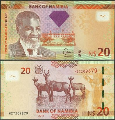 Picture of Namibia,P12a,B210,20 Dollars,2011