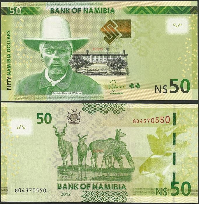 Picture of Namibia,P13,B211,50 Dollars,2012