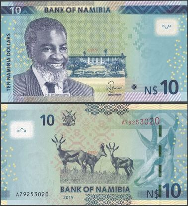 Picture of Namibia,P16,B216,10 Dollars,2015