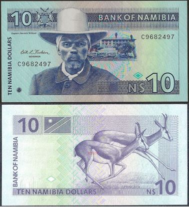 Picture of Namibia,P01,B201,10 Dollars,1993