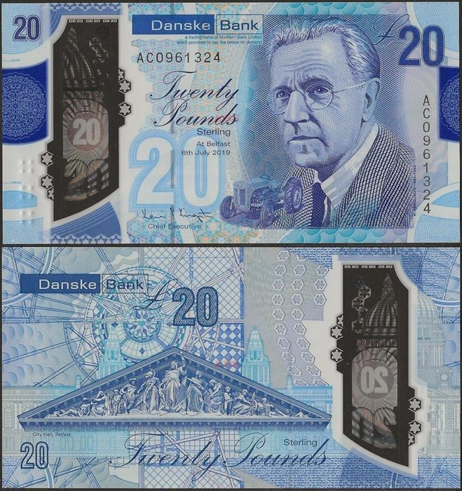 Picture of Northern Ireland,B504,20 Pounds,2020,Danske