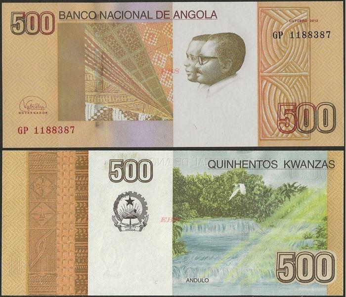 Picture of Angola,P155, B546b,500 Kwanzas,2012
