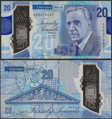 Picture of Northern Ireland,B504,20 Pounds,2020,Danske,AA