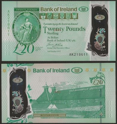 Picture of Northern Ireland,PNL,B138,20 Pounds,2020,Bank of Ireland