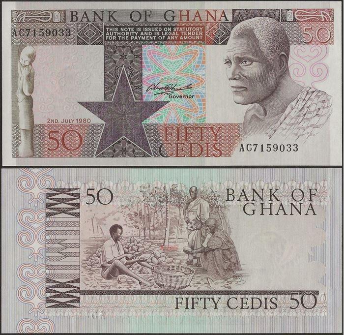 Picture of Ghana,P22b,B123,50 Cedi,1980