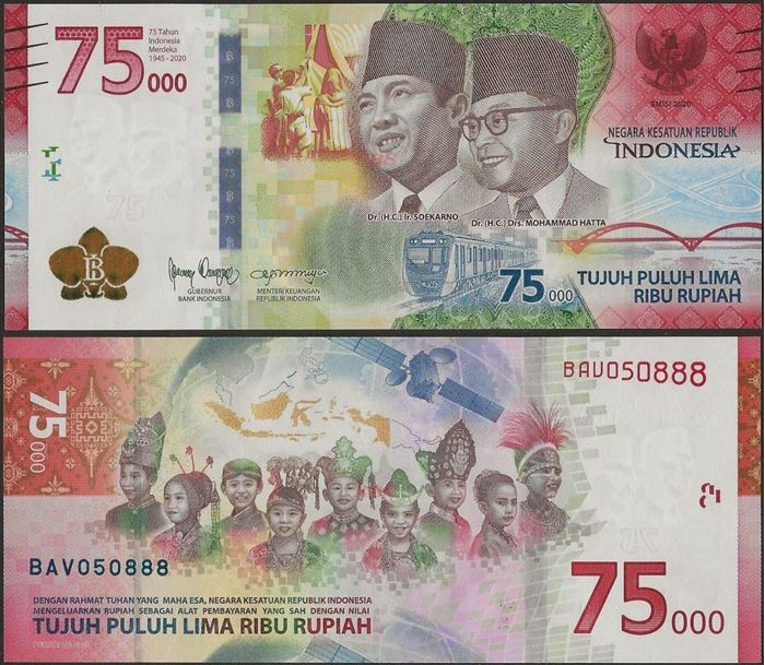 Picture of Indonesia,B616,75000 Rupiah,Comm,2020