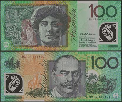 Picture of Australia,P61,B229f,100 Dollars,2017