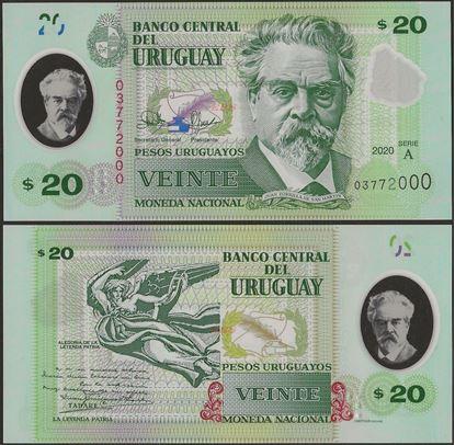 Picture of Uruguay,B560,20 Pesos Uruguayos,2020