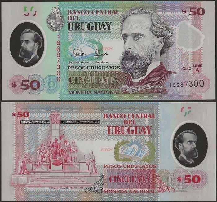 Picture of Uruguay,B561,50 Pesos Uruguayos,2020
